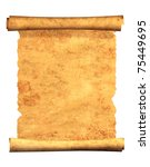 scroll of old parchment. object ...   Shutterstock . vector #75449695