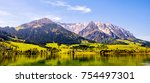 walchsee lake in austria at the ...   Shutterstock . vector #754497301