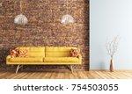 modern interior design of... | Shutterstock . vector #754503055