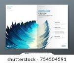 brochure template layout design.... | Shutterstock .eps vector #754504591
