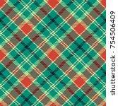 seamless tartan vector pattern | Shutterstock .eps vector #754506409