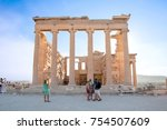athens  greece august 01  the... | Shutterstock . vector #754507609