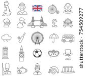 english culture line icon set... | Shutterstock .eps vector #754509277