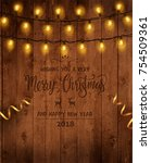 christmas   new year design ... | Shutterstock .eps vector #754509361