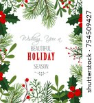 christmas background . vector... | Shutterstock .eps vector #754509427