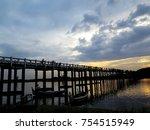 sunset view on u beng bridge in ...   Shutterstock . vector #754515949