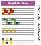 education logic game for... | Shutterstock .eps vector #754523521