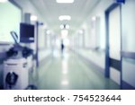 blurred silhouette of a human... | Shutterstock . vector #754523644