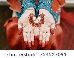 the bride and henna | Shutterstock . vector #754527091