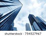 bottom view of modern... | Shutterstock . vector #754527967
