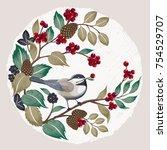 vector illustration in winter...   Shutterstock .eps vector #754529707