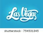 las vegas modern city hand... | Shutterstock .eps vector #754531345