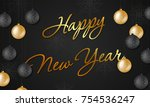background for holiday greeting ... | Shutterstock .eps vector #754536247