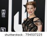 amber heard at the world... | Shutterstock . vector #754537225