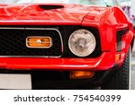 Close Up Of Front Headlight Of...