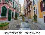 scenic street in the old town... | Shutterstock . vector #754546765