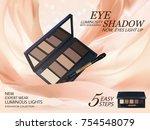 eyeshadow palette ads  classic... | Shutterstock .eps vector #754548079