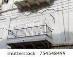 balconies of old european houses | Shutterstock . vector #754548499