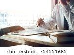 financial advisor presenting...   Shutterstock . vector #754551685