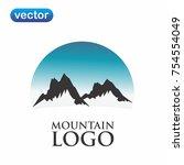 mountain logo vector | Shutterstock .eps vector #754554049
