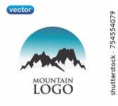 mountain logo vector | Shutterstock .eps vector #754554079
