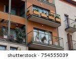 modern balconies at home | Shutterstock . vector #754555039