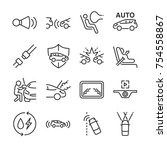 car line icon set. included the ... | Shutterstock .eps vector #754558867