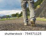male walking outdoors. | Shutterstock . vector #754571125