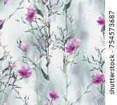 grass seamless pattern.... | Shutterstock . vector #754573687