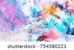 bright artistic splashes.... | Shutterstock . vector #754580221