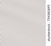 modern wavy background  minimal ... | Shutterstock .eps vector #754581895