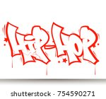 Hip Hop Tag Graffiti Style...