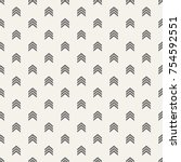 seamless pattern with arrows... | Shutterstock .eps vector #754592551