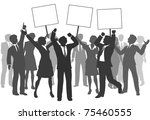 team of business men and women... | Shutterstock .eps vector #75460555