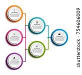 infographic design organization ... | Shutterstock .eps vector #754606009