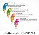 infographics template with... | Shutterstock .eps vector #754606204