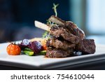 Grilled Lamb Carre With Warm...