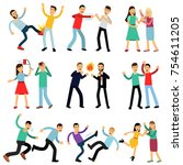 cartoon illustration set of... | Shutterstock .eps vector #754611205