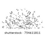 musical notes decoration... | Shutterstock .eps vector #754611811