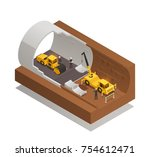 isometric composition with... | Shutterstock .eps vector #754612471