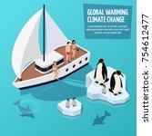 climate change isometric... | Shutterstock .eps vector #754612477