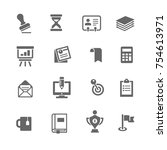 business and office icon   Shutterstock .eps vector #754613971