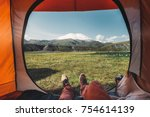 View From Inside A Tent On The...