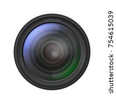 realistic detailed 3d camera... | Shutterstock .eps vector #754615039