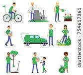 people volunteers characters... | Shutterstock .eps vector #754617361