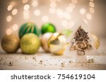 christmas toys and decorations  ... | Shutterstock . vector #754619104