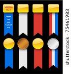 patriotic usa ribbon set...   Shutterstock .eps vector #75461983