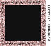 Pink Gold Glitter. Square...