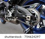 Side Wide Shot Of Race Bike Or...