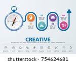 direction to success. template...   Shutterstock .eps vector #754624681